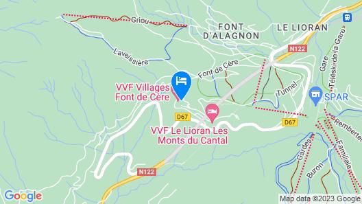 VVF Villages Les Monts du Cantal Map