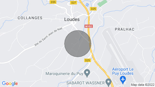 Gite Loudes, 3 Bedrooms, 6 Persons Map