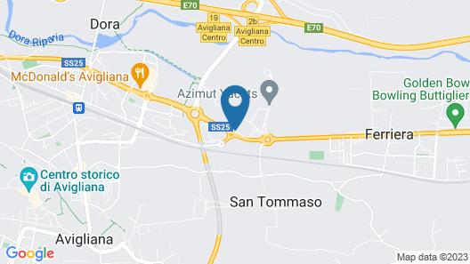 Ninfa Hotel Map