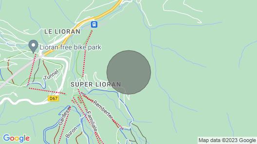 Chalet à 50 m des Pistes Map