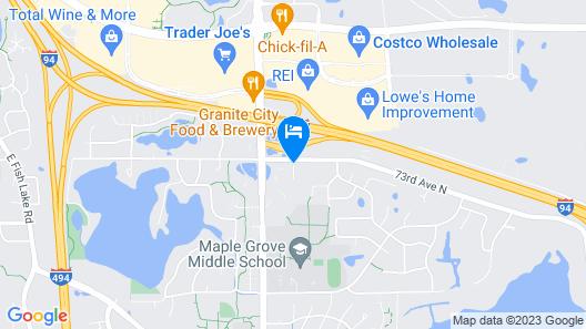Asteria Inn & Suites Maple Grove Map