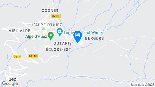 Pierre & Vacances Résidence Les Bergers Map