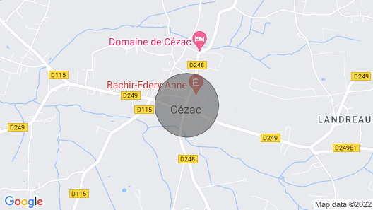 Village Center, the Charm of the Old, Completely Renovated in Cezac Map