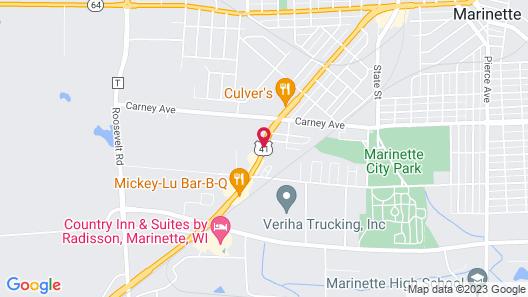 Marinette Inn Map