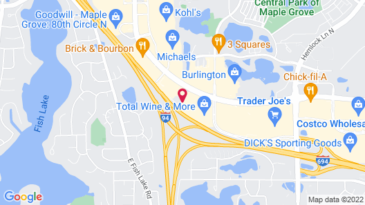 Hampton Inn Minneapolis NW Maple Grove Map