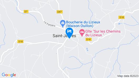 Chambre et table d'hôtes Le Fougal Map