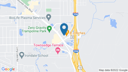 Days Inn by Wyndham Mounds View Twin Cities North Map