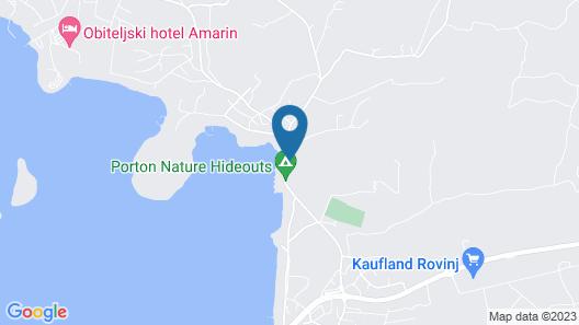Mediteran kamp Mobile Homes in Camping Porton Biondi  Map