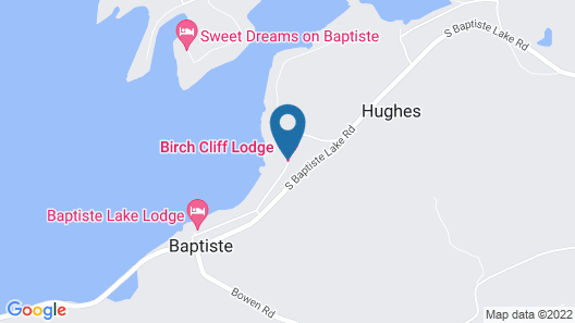 Birch Cliff Lodge on Baptiste Lake Map
