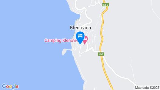 Mediteran kamp Mobile Homes in Camping Klenovica Map