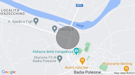 Relax in badia polesine in single villa apartment 2 Map
