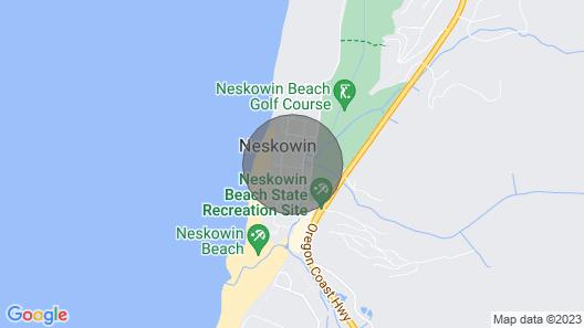 Neskowin Village Beach House 2 Blocks to Beach Access- Pet Friendly-fire Pit Map