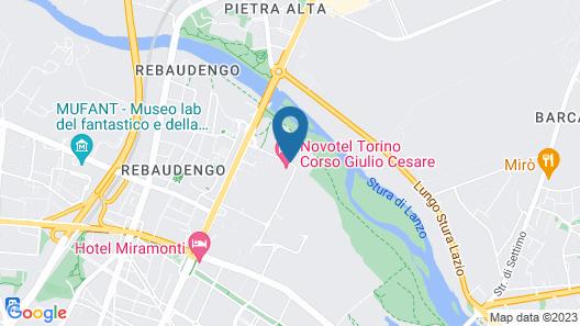 Novotel Torino Corso Giulio Cesare Map