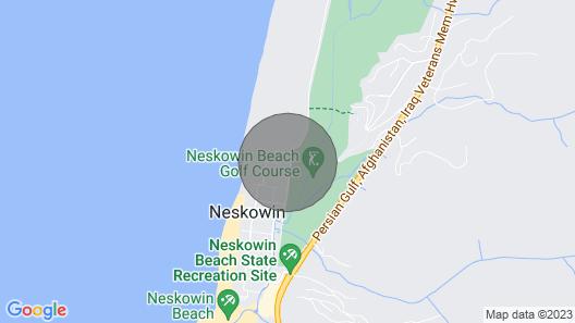 Rustic Dog-friendly Beach Home on Neskowin Marsh Golf Course + 2 Blocks to Beach Map