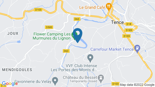 Gîte Les murmures du Lignon Map