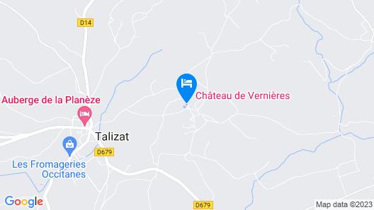 Gîtes au Château de Vernières Map