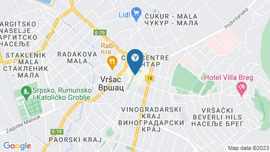 Srbija Hotel Map