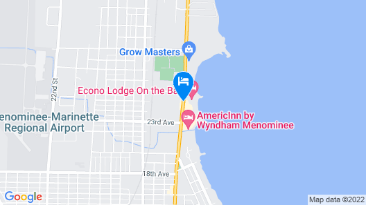 Econo Lodge on the Bay Map