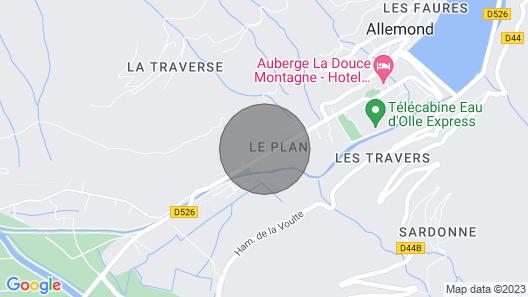Allemont Chalet des Galline Domaine Vaujany Alpe D Huez Map