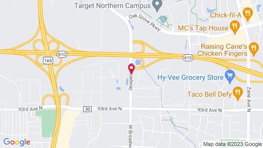 Hampton Inn Brooklyn Park, MN Map