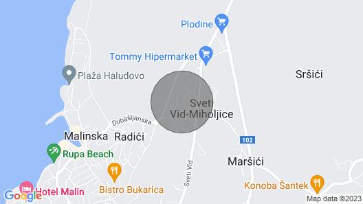 Moderne Villa Loma 2***** mit Aussicht und Außenpool auf Krk Map