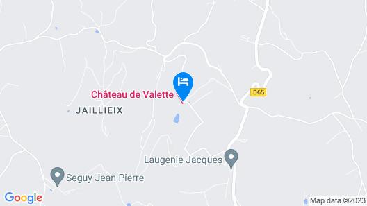 Château de VALETTE Map