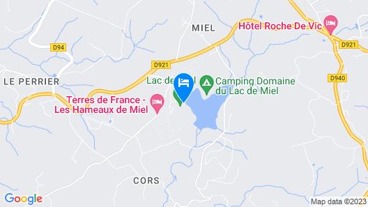 Les Cottages du Lac de Miel Map