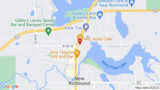 Amerivu Inn And Suites New Richmond Map