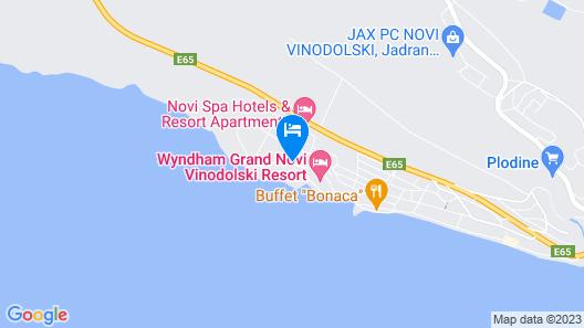 Wyndham Grand Novi Vinodolski Resort Map