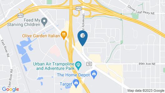 Quality Inn near Northtown Mall & National Sports Center Map