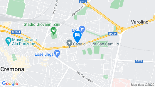 B&B Hotel Cremona Map