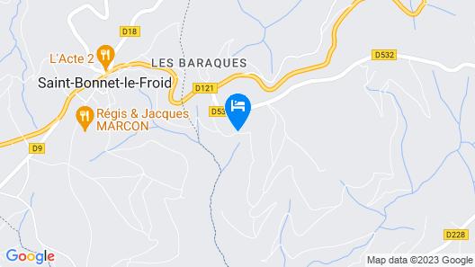 Le Dôme O Paradis Fonts Hautes Map
