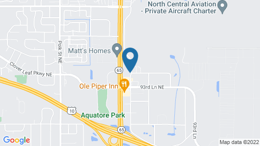 Coratel Inn & Suites Blaine Map
