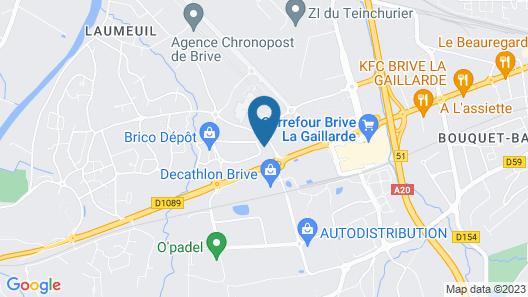 ibis Styles Brive La Gaillarde Map
