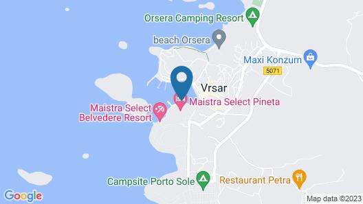 Maistra Riva Apartments Vrsar Map