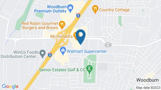 Super 8 by Wyndham Woodburn Map