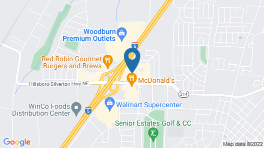 Best Western Woodburn Map