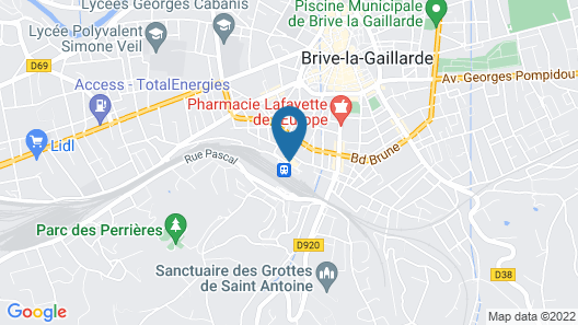 Grand Hôtel Brive Map