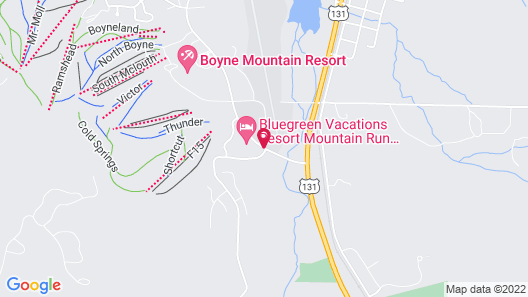 Bluegreen Vacations Mountain Run at Boyne, an Ascend Resort Map