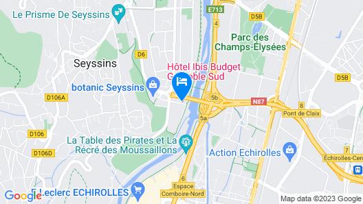 ibis budget Grenoble Sud Seyssins Map