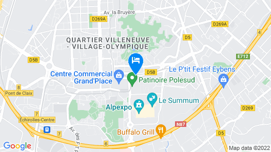 B&B Hotel Grenoble Centre Alpexpo Map
