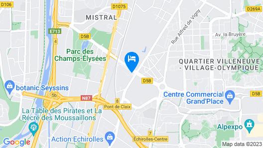 B&B Hotel Grenoble Centre Verlaine Map