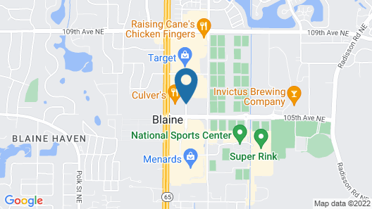 Best Western Plus Blaine at the National Sports Center Map