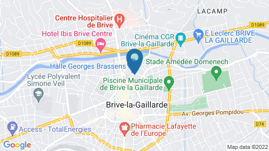 The Originals Boutique, Hôtel Le Quercy, Brive-la-Gaillarde Centre (Qualys-Hotel) Map