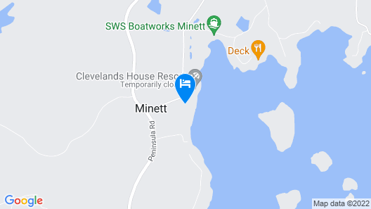 Clevelands House Resort Muskoka Map