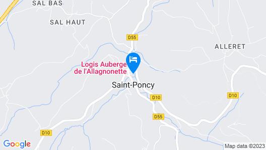 Auberge de l'Allagnonette Map