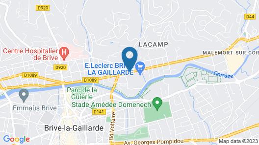 Kyriad Brive La Gaillarde Centre Map