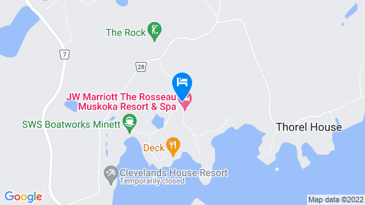 JW Marriott The Rosseau Muskoka Resort & Spa Map