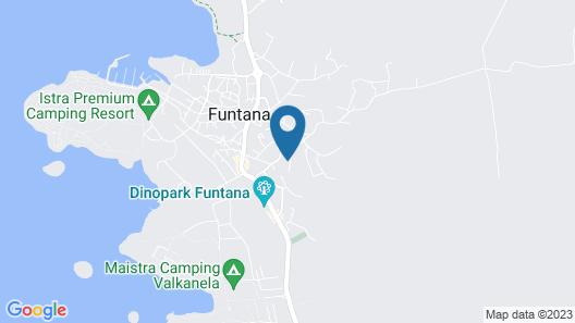 Seaside Villa With Swimming Pool in Funtana Map