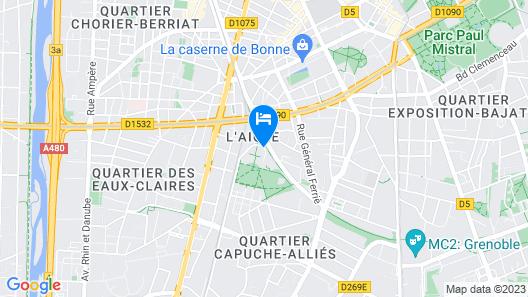 Hotel Mercure Grenoble Centre President Map